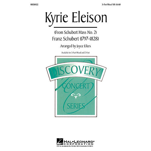 Hal Leonard Kyrie Eleison (from Mass No. 2) 3-Part Mixed arranged by Joyce Eilers-thumbnail