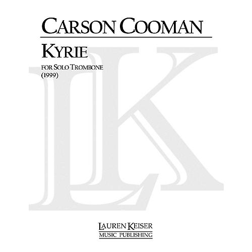 Lauren Keiser Music Publishing Kyrie (Trombone Solo) LKM Music Series Composed by Carson Cooman-thumbnail