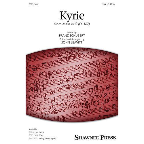 Shawnee Press Kyrie (from Mass in G, D. 167) SSA arranged by John Leavitt