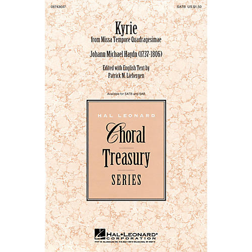 Hal Leonard Kyrie (from Missa Tempore Quadragesimae) SATB arranged by Patrick Liebergen-thumbnail
