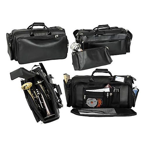 Protec L-248 Deluxe Leather Triple Trumpet Bag-thumbnail
