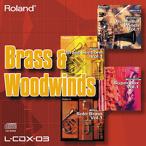 Roland L-CDX-03 Brass and Woodwinds Sounds CD-ROM