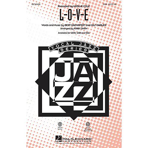Hal Leonard L-O-V-E SSA arranged by Kirby Shaw-thumbnail