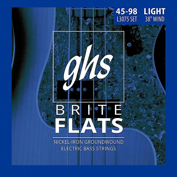 GHSL3075 Brite Flats Flatwound Electric Bass Strings