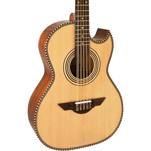 H. Jimenez LBQ1 El Estandar (The Standard) Full Body Bajo Quinto Acoustic Guitar