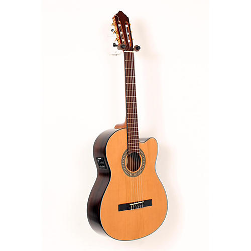 Lucero LC200SCE Rosewood/Cedar Acoustic-Electric Cutaway Classical Guitar Natural 888365414355