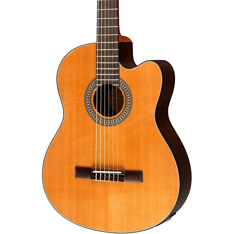 Lucero LC200SCE Rosewood/Cedar Acoustic-Electric Cutaway Classical Guitar Natural