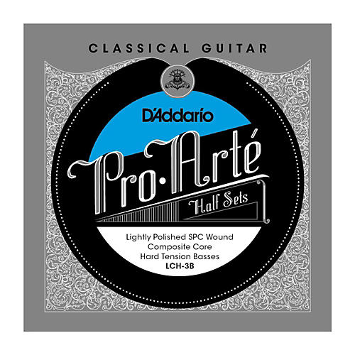 D'Addario LCH-3B Pro-Arte Hard Tension Classical Guitar Strings Half Set