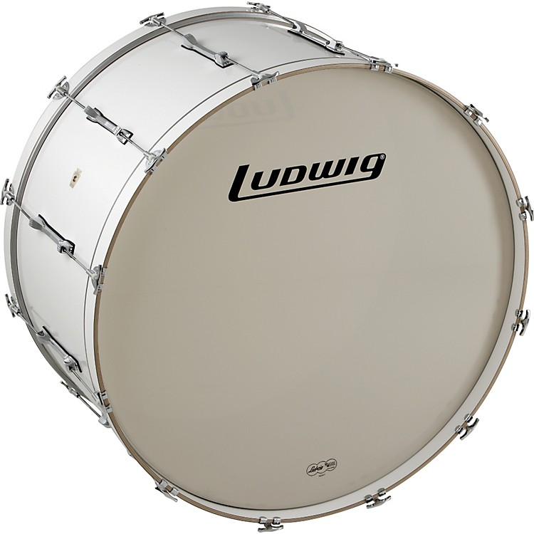 Ludwig LE-CB Bass Drum White 18x40