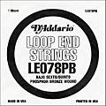D'Addario LE078PB Phosphor Bronze Wound Single String thumbnail