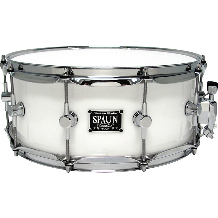 SpaunLED Acrylic Snare DrumWhite6x14