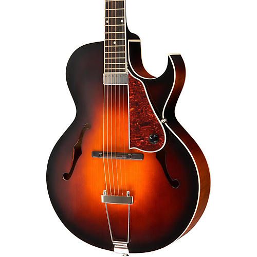 The Loar LH-650 Archtop Cutaway Hollowbody Guitar Vintage Sunburst