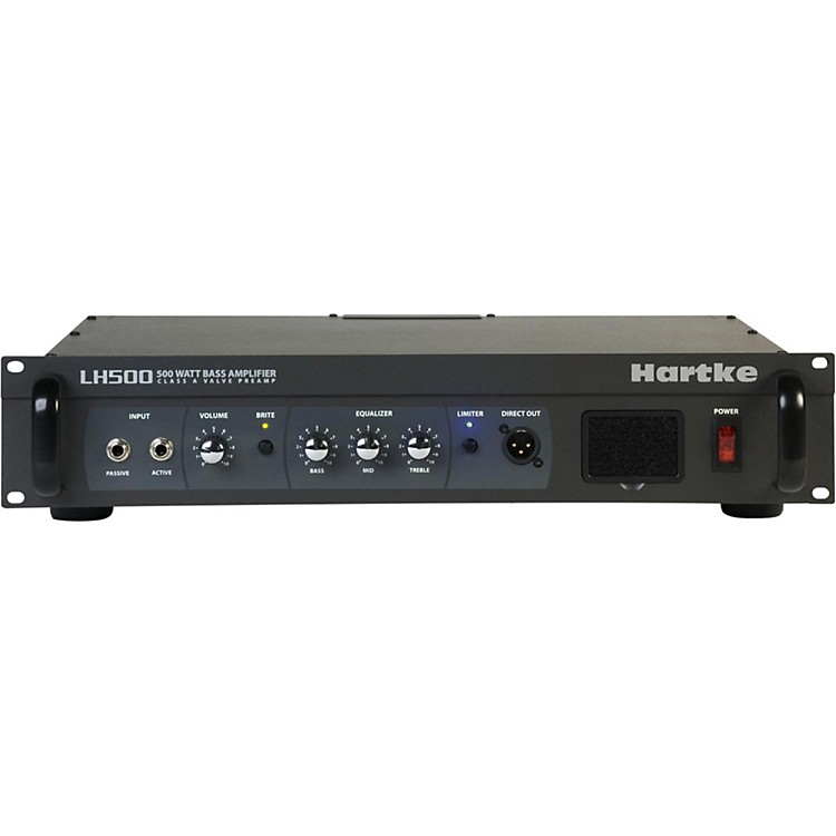 Hartke LH Series LH500 500 Watt Hybrid Bass Amp Head Black