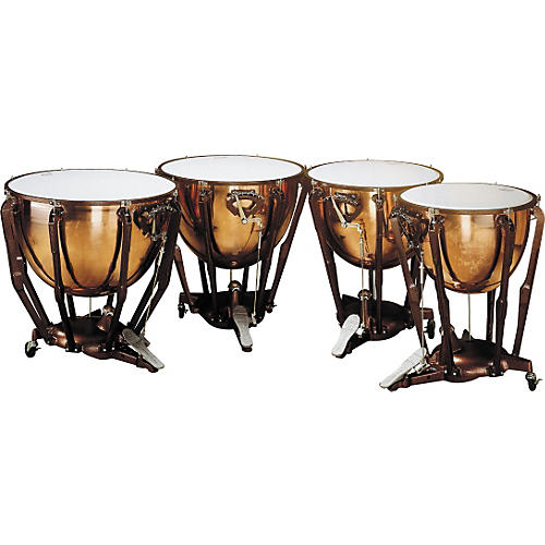 Ludwig LKS404PG Stand Polished Copper Timp Set