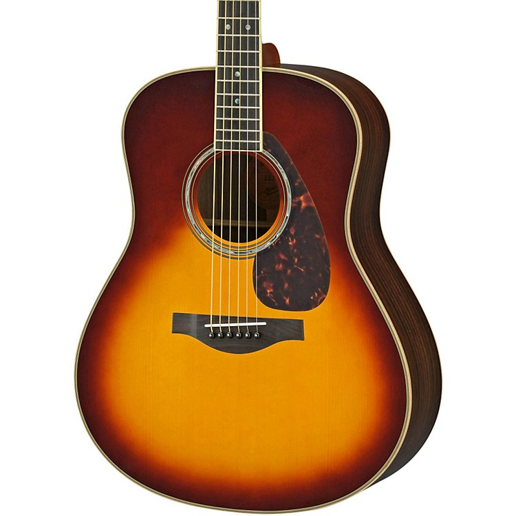 YamahaLL16R L Series Solid Rosewood/Spruce Dreadnought Acoustic-Electric Guitar
