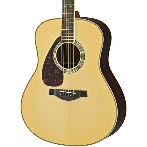 Yamaha LL16RL L Series Solid Rosewood/Spruce Dreadnought Left-Handed Acoustic-Electric Guitar-thumbnail