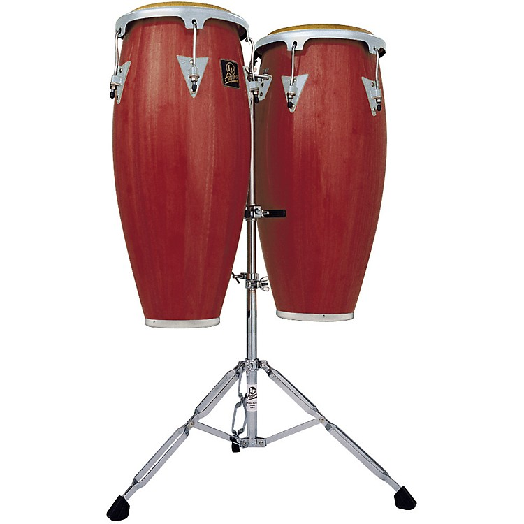 LP LPA646 Aspire Conga Set with Double Stand Dark Wood