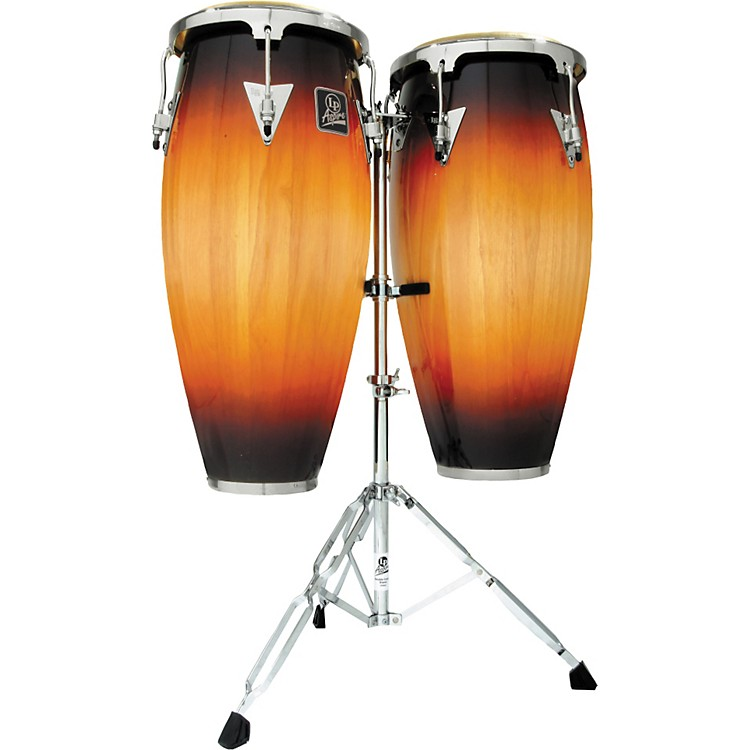 LP LPA646 Aspire Conga Set with Double Stand Vintage Sunburst