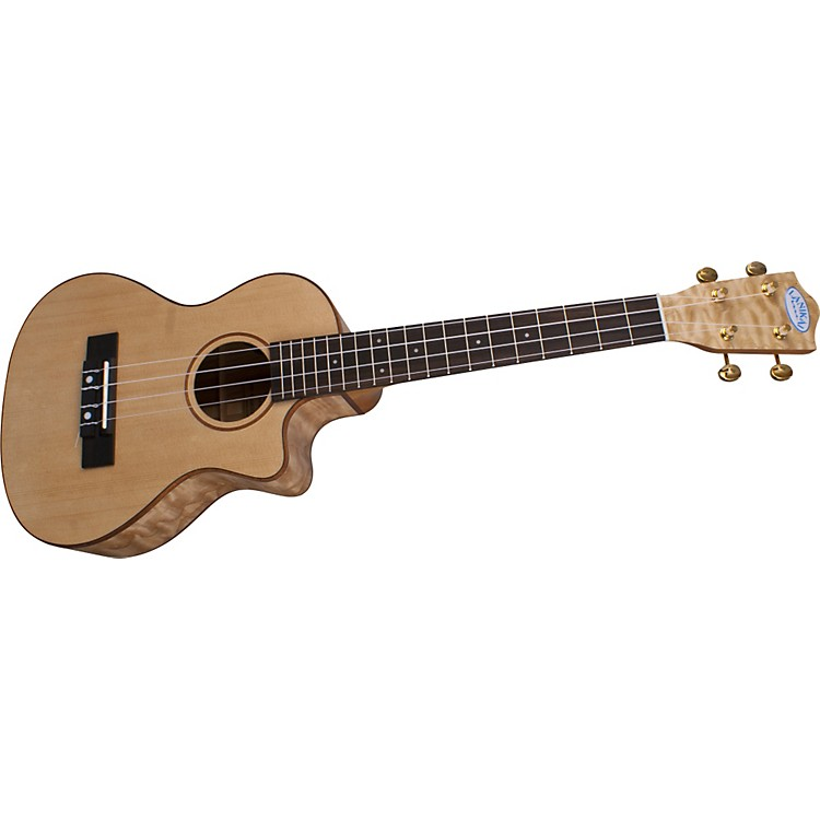 LanikaiLQA-TCA Quilt Ash Tenor Cutaway Acoustic-Electric Ukulele w/Fishman PreampSatin Natural