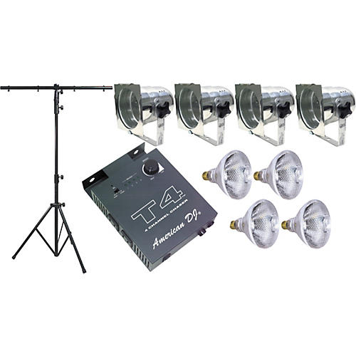American DJ LS-50/A Portable Lighting Package with Chrome PAR-38-thumbnail