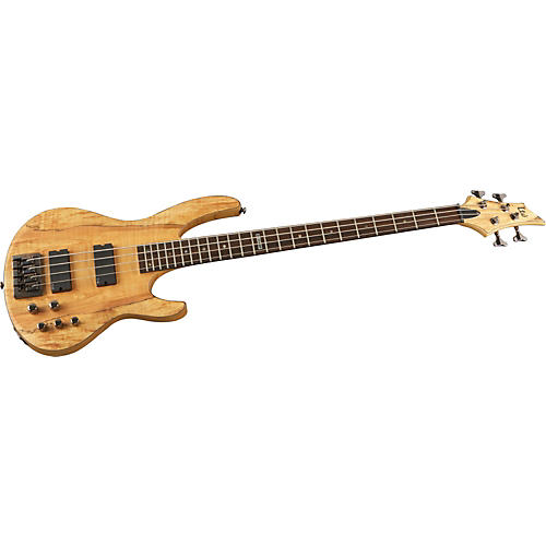 ESP LTD B-414 Spalted Maple Electric Bass Guitar