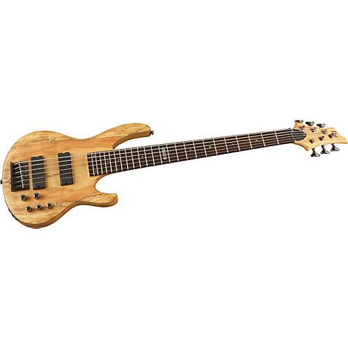 ESP LTD B-416 Spalted Maple 6-String Electric Bass Guitar