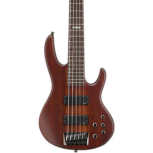 ESP LTD D-5 5-String Bass Guitar Natural Satin
