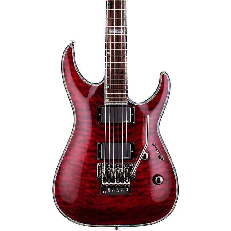 ESPLTD Deluxe H-1001QM Floyd Rose Electric GuitarSee-Thru Black Cherry