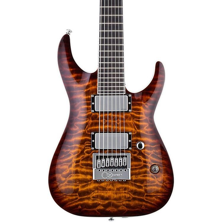 ESPLTD KS-7 Ken Susi 7 String Electric GuitarDark Brown Sunburst