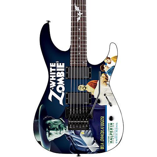 ESP LTD Kirk Hammett Signature White Zombie Electric Guitar-thumbnail