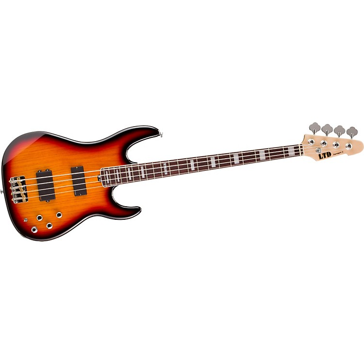 ESP LTD Surveyor-4 Electric Bass Guitar 3-Tone Burst Rosewood