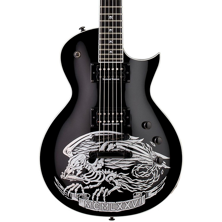 ESP LTD Will Adler Warbird Electric Guitar Graphic Black