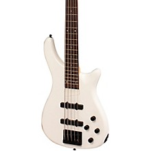 Rogue LX205B 5-String Series III Electric Bass Guitar Pearl White