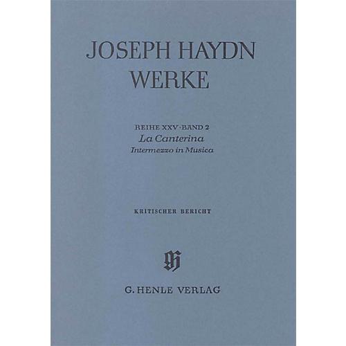 G. Henle Verlag La Canterina - Intermezzo in Musica Henle Edition Series Hardcover-thumbnail