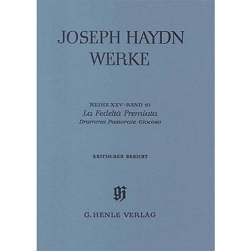 G. Henle Verlag La Fedeltà Premiata - Dramma Pastorale Giocoso, 2nd part Henle Edition Series Hardcover-thumbnail