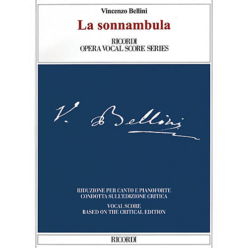 Ricordi La sonnambula (Critical Edition Vocal Score) Opera Series Softcover  by Vincenzo Bellini-thumbnail