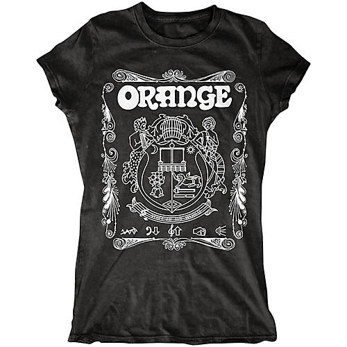Orange Amplifiers Ladies Crest T-Shirt with White Crest Black Medium-thumbnail