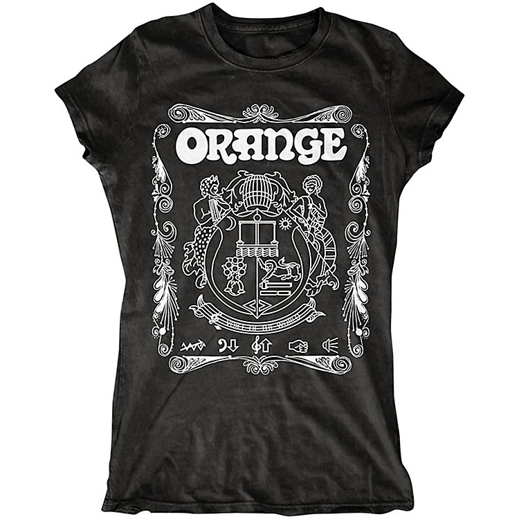 Orange AmplifiersLadies Crest T-Shirt with White Crest
