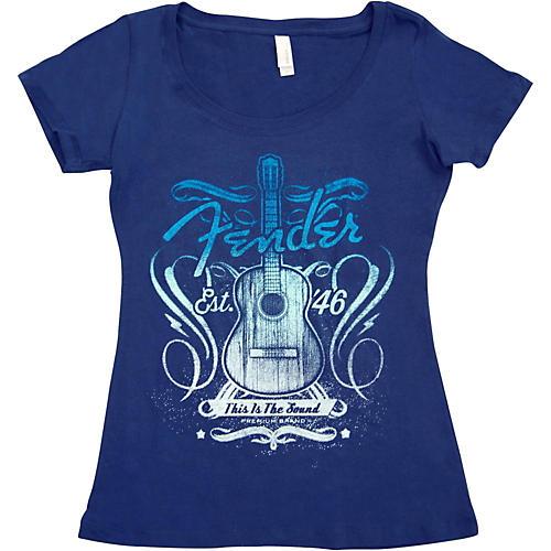 Fender Ladies Sound T-Shirt Medium Navy