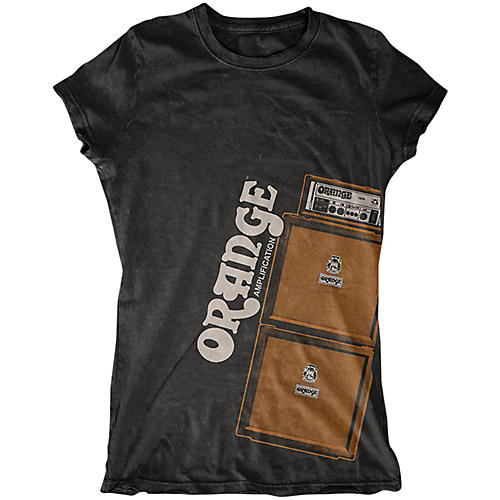 orange amplifiers ladies stack t shirt musician 39 s friend. Black Bedroom Furniture Sets. Home Design Ideas