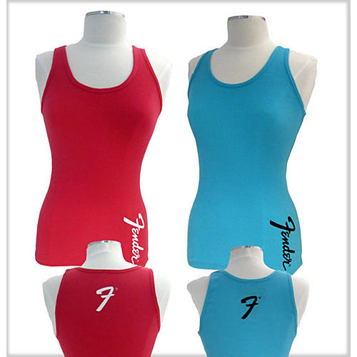 Fender Ladies Teal Amp Logo Tank