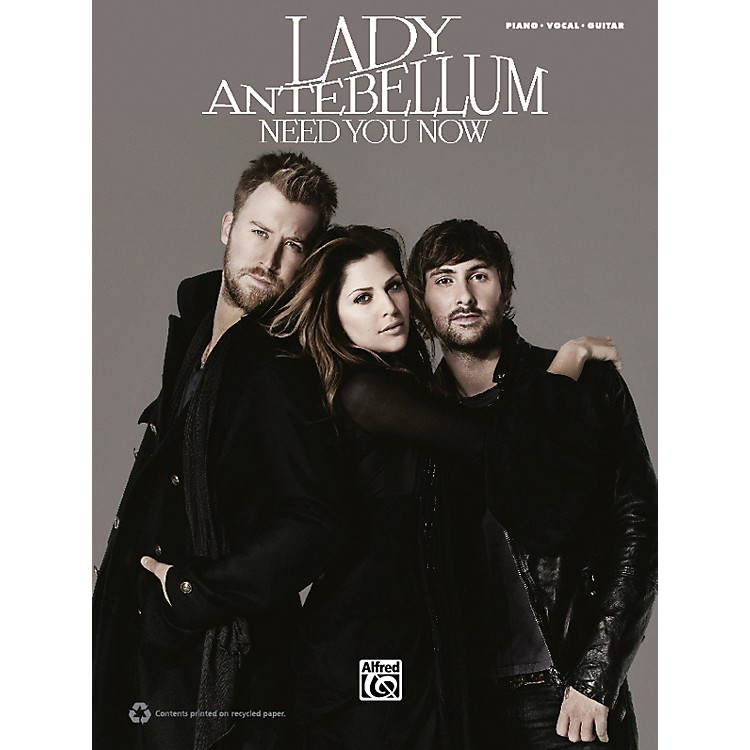 Hal Leonard Lady Antebellum Need You Now PVC Book