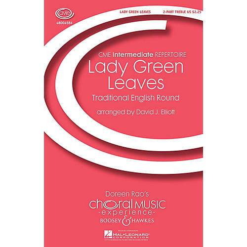 Boosey and Hawkes Lady Green Leaves (CME Intermediate) 2-Part arranged by David Elliott