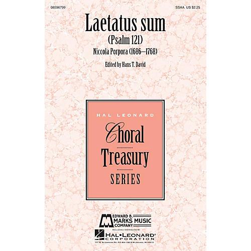 Edward B. Marks Music Company Laetatus Sum (Psalm 121) SSAA composed by Nicola Porpora