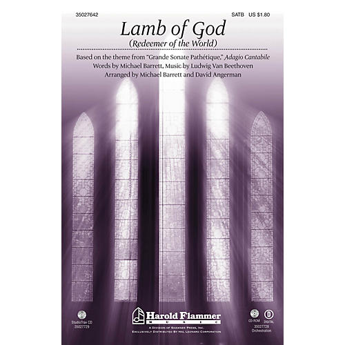 Shawnee Press Lamb of God (Redeemer of the World) (Theme from Beethoven's Pathetique) ORCHESTRATION ON CD-ROM