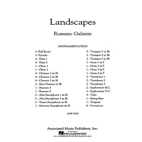 G. Schirmer Landscapes Concert Band Level 5 Composed by Rossano Galante-thumbnail
