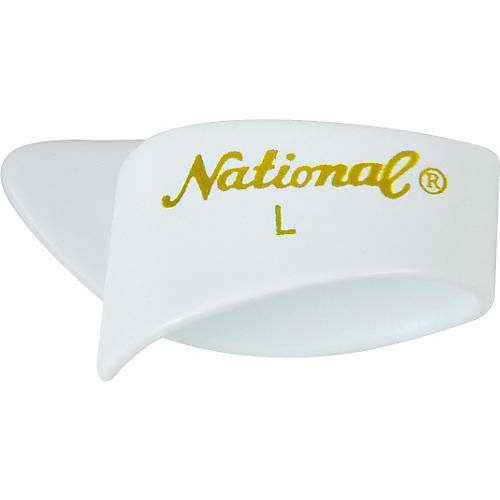 National Picks Large White Thumb Picks 1-Dozen-thumbnail