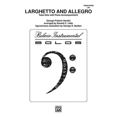 Alfred Larghetto and Allegro for Tuba By George Frideric Handel / arr. Donald C. Little Book-thumbnail