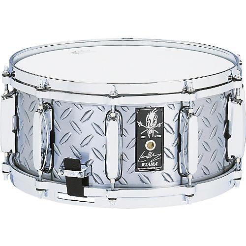 Tama Lars Ulrich Diamond Plate Steel Snare Drum 14x6.5-thumbnail