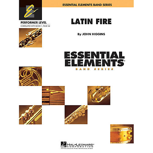 Hal Leonard Latin Fire Concert Band Level .5 to 1 Composed by John Higgins-thumbnail